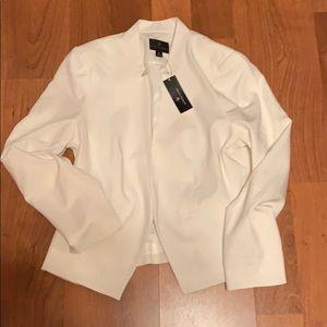 White pantsuit blazer
